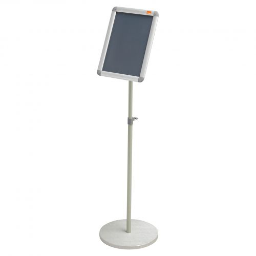 Nobo A4 Display Stand with Snap Frame 1902383   Height adjustable approximately 850mm to 1400mm   Portrait or Landscape   Fusion Office UK