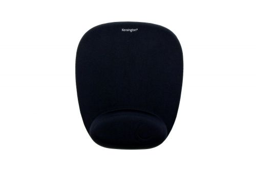 Kensington Foam Mousepad with Wrist Rest Black 62384   Mousepad with integrated foam wrist rest   Fusion Office UK