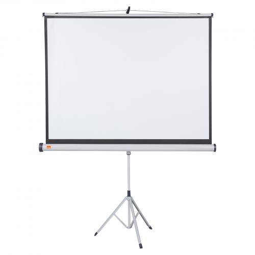 Nobo Tripod Screen 1500x1138mm 4:3 1902395 | Brilliant matt white projection screen surface for high quality projection | Fusion Office UK
