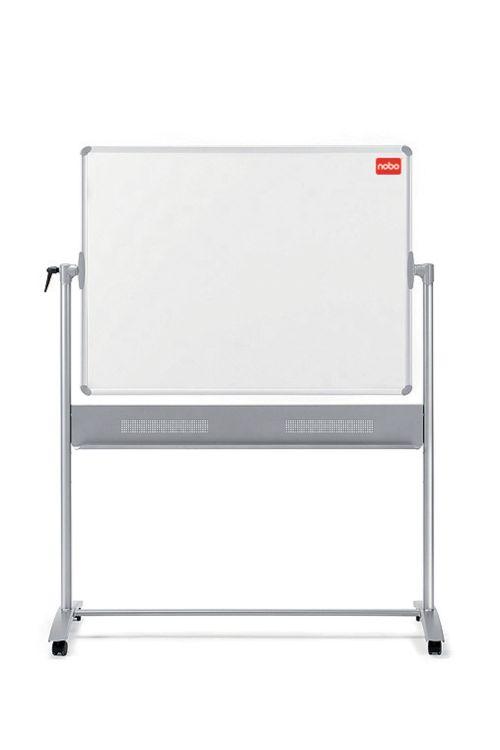 Nobo Melamine Mobile Board 1200x900mm 1905239 | Melamine surface offering a good level of erasability for light use | Fusion Office UK