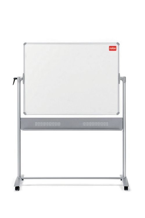 Nobo Melamine Mobile Board 1500x1200mm 1905240 | Melamine surface offering a good level of erasability for light use | Fusion Office UK