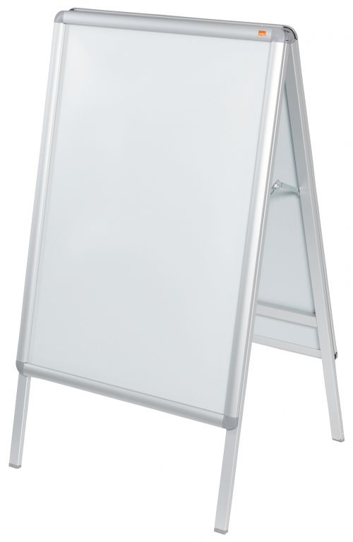 Nobo A-Board 594x841mm A1 1902206   Free-standing double-sided sign holder   Smart aluminium snap frame   Fusion Office UK