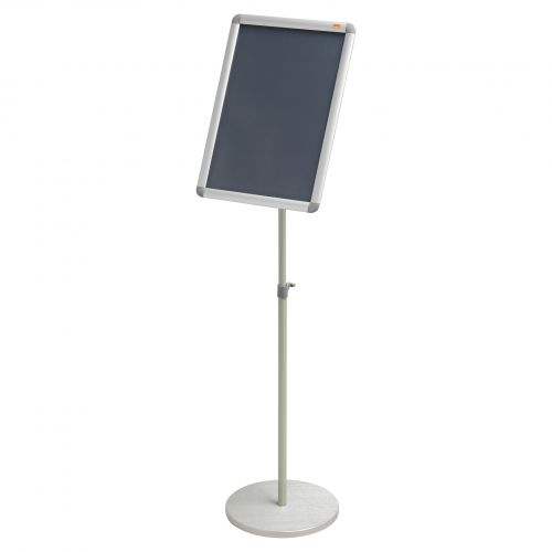 Nobo A3 Display Stand with Snap Frame 1902384 | Height adjustable approximately 850mm to 1400mm | Portrait or Landscape | Fusion Office UK