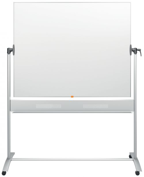 Nobo Classic Enamel Mobile Board 1500x1200mm 1901035   Enamel magnetic whiteboard surface   25 year surface guarantee   Fusion Office UK