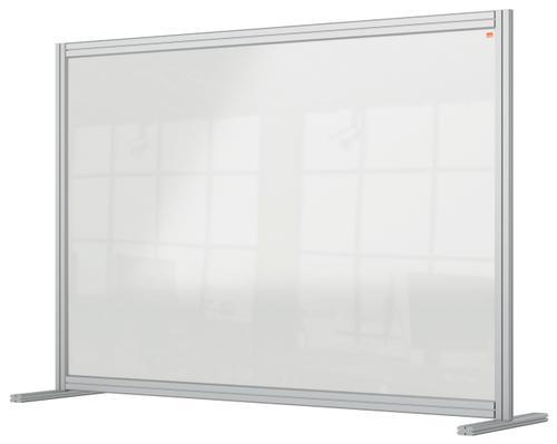 Nobo Desk Divider 1400x1000mm Acrylic 1915490 | Create a versatile modular configuration | Clear plexiglass acrylic | Fusion Office UK