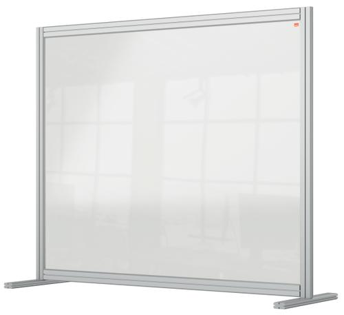 Nobo Desk Divider 1200x1000mm Acrylic 1915491 | Create a versatile modular configuration | Clear plexiglass acrylic | Fusion Office UK