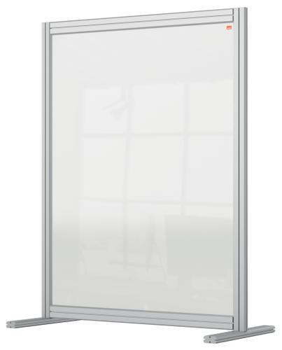Nobo Desk Divider 800x1000mm Acrylic 1915492 | Create a versatile modular configuration | Clear plexiglass acrylic | Fus