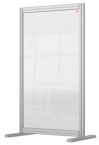 Nobo Desk Divider 600x1000mm Acrylic 1915493   Create a versatile modular configuration   Clear plexiglass acrylic   Fusion Office UK