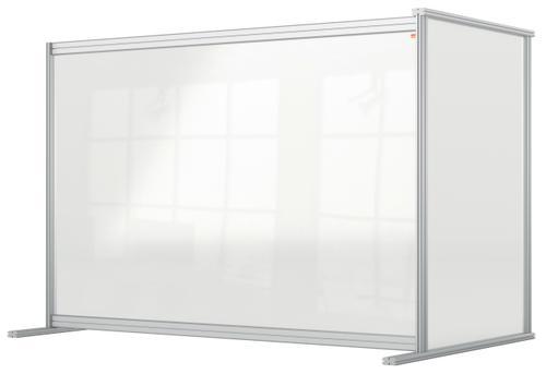 Nobo Desk Divider Extender 1400x1000 Acrylic 1915495   Create a versatile modular configuration   Clear plexiglass acrylic   Fusion Office UK