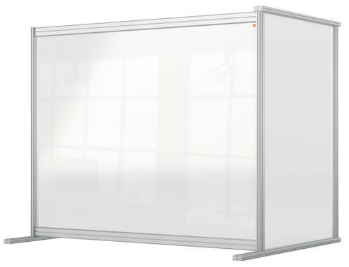 Nobo Desk Divider Extender 1200x1000 Acrylic 1915496   Create a versatile modular configuration   Clear plexiglass acrylic   Fusion Office UK