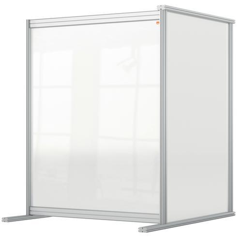 Nobo Desk Divider Extender 800x1000 Acrylic 1915497 | Create a versatile modular configuration | Clear plexiglass acrylic | Fusion Office UK