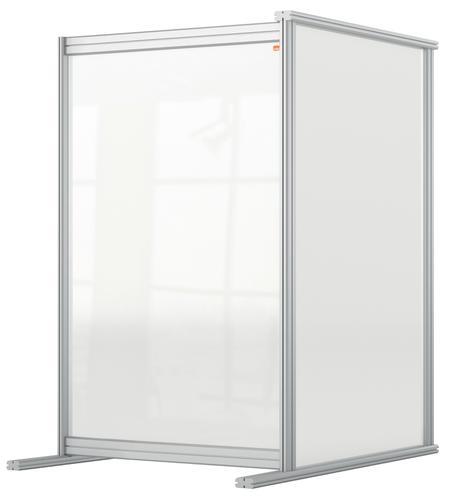 Nobo Desk Divider Extender 600x1000 Acrylic 1915498   Create a versatile modular configuration   Clear plexiglass acrylic   Fusion Office UK