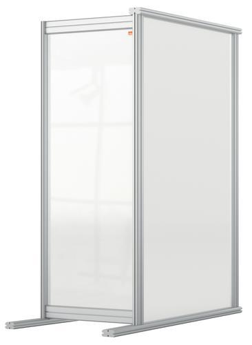 Nobo Desk Divider Extender 400x1000 Acrylic 1915499 | Create a versatile modular configuration | Clear plexiglass acrylic | Fusion Office UK
