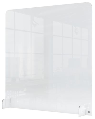 Nobo Plexiglass Counter Screen 700x850mm 1915489 | Screen height is 1m; providing a high level of protection | Fusion Office UK