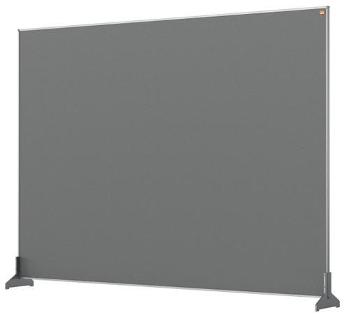 Nobo Desk Screen 1400x1000mm Grey 1915500 | Create a versatile modular configuration | Felt pinnable surface | Fusion Office UK
