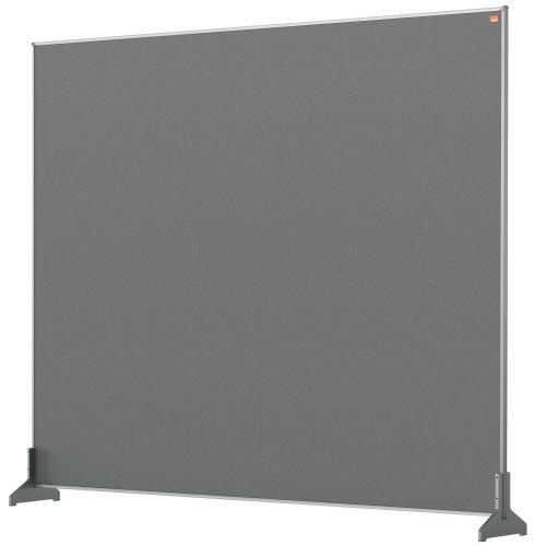 Nobo Desk Screen 1200x1000mm Grey 1915501 | Create a versatile modular configuration | Felt pinnable surface | Fusion Office UK