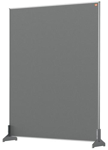 Nobo Desk Screen 800x1000mm Grey 1915502   Create a versatile modular configuration   Felt pinnable surface   Fusion Office UK