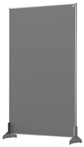 Nobo Desk Screen 600x1000mm Grey 1915503   Create a versatile modular configuration   Felt pinnable surface   Fusion Office UK