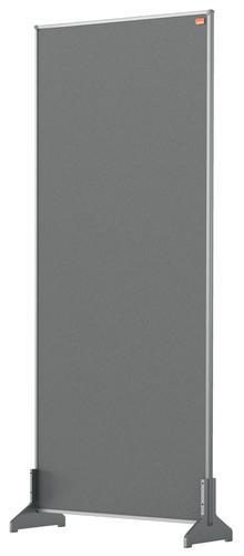 Nobo Desk Screen 400x1000mm Grey 1915504 | Create a versatile modular configuration | Felt pinnable surface | Fusion Office UK