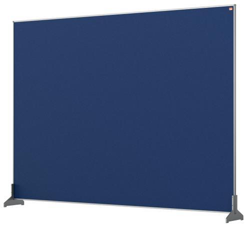 Nobo Desk Screen 1400x1000mm Blue 1915505 | Create a versatile modular configuration | Felt pinnable surface | Fusion Office UK