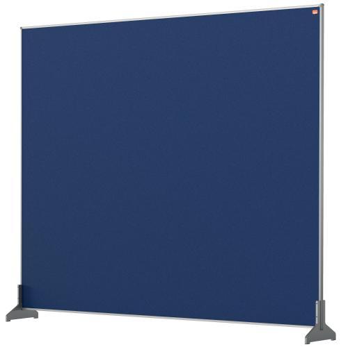 Nobo Desk Screen 1200x1000mm Blue 1915506   Create a versatile modular configuration   Felt pinnable surface   Fusion Office UK