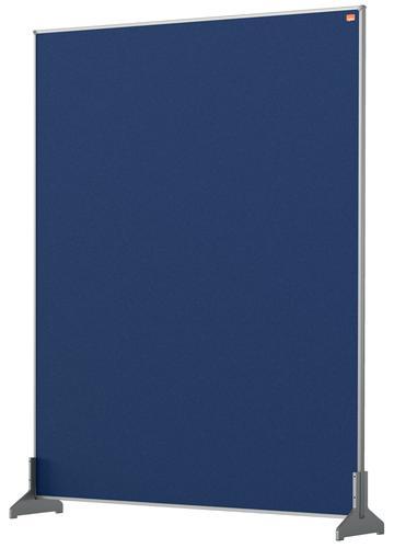 Nobo Desk Screen 800x1000mm Blue 1915507   Create a versatile modular configuration   Felt pinnable surface   Fusion Office UK