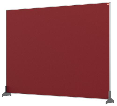 Nobo Desk Screen 1400x1000mm Red 1915510 | Create a versatile modular configuration | Felt pinnable surface | Fusion Office UK
