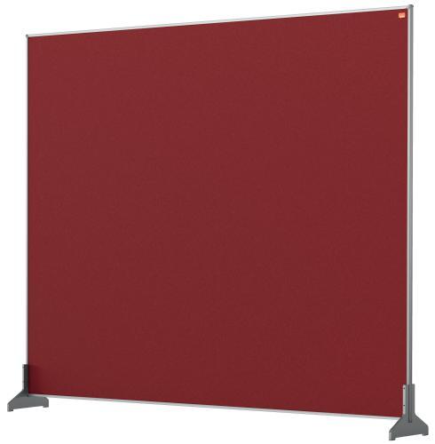 Nobo Desk Screen 1200x1000mm Red 1915511   Create a versatile modular configuration   Felt pinnable surface   Fusion Office UK
