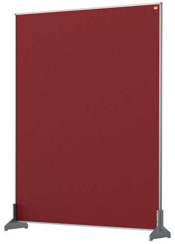 Nobo Desk Screen 800x1000mm Red 1915512   Create a versatile modular configuration   Felt pinnable surface   Fusion Office UK