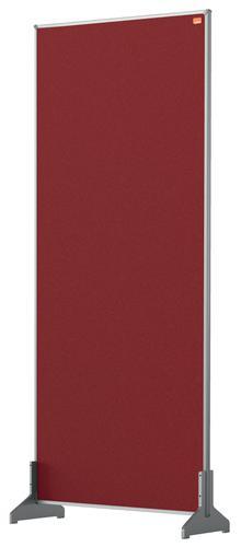 Nobo Desk Screen 400x1000mm Red 1915514 | Create a versatile modular configuration | Felt pinnable surface | Fusion Office UK