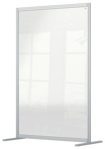 Nobo Floor Screen 1200x1800mm Acrylic 1915515 | A high level of social distancing protection | Clear plexiglass acrylic | Fusion Office UK