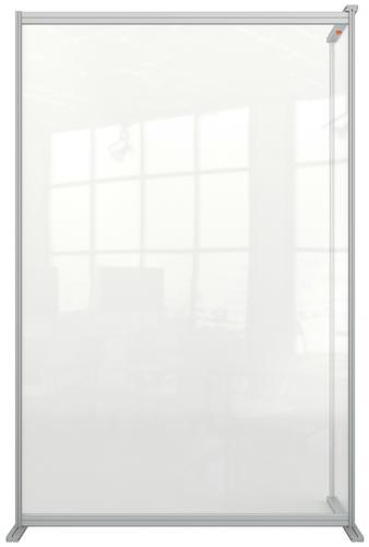 Nobo Floor Screen Extender 1200x1800mm Acrylic 1915518   Create a versatile configuration   Clear plexiglass acrylic   Fusion Office UK