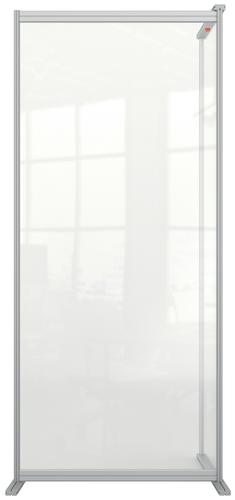 Nobo Floor Screen Extender 800x1800mm Acrylic 1915519 | Create a versatile configuration | Clear plexiglass acrylic | Fusion Office UK