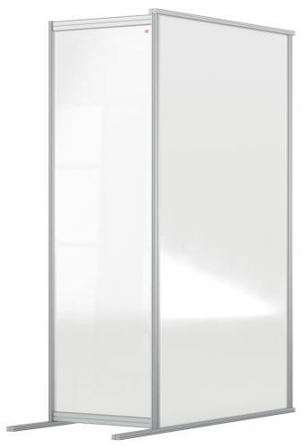 Nobo Floor Screen Extender 600x1800mm Acrylic 1915520   Create a versatile configuration   Clear plexiglass acrylic   Fusion Office UK