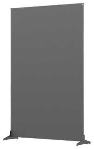 Nobo Floor Screen 1200x1800mm Grey 1915521 | Create a versatile modular configuration | Felt pinnable surface | Fusion Office UK