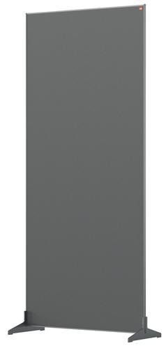 Nobo Floor Screen 800x1800mm Grey 1915522 | Create a versatile modular configuration | Felt pinnable surface | Fusion Office UK