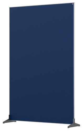 Nobo Floor Screen 1200x1800mm Blue 1915524 | Create a versatile modular configuration | Felt pinnable surface | Fusion Office UK
