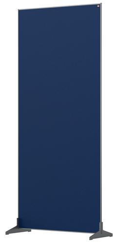 Nobo Floor Screen 800x1800mm Blue 1915525 | Create a versatile modular configuration | Felt pinnable surface | Fusion Office UK