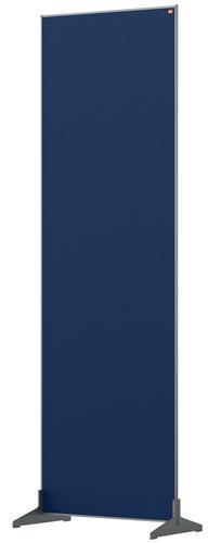 Nobo Floor Screen 600x1800mm Blue 1915526 | Create a versatile modular configuration | Felt pinnable surface | Fusion Office UK