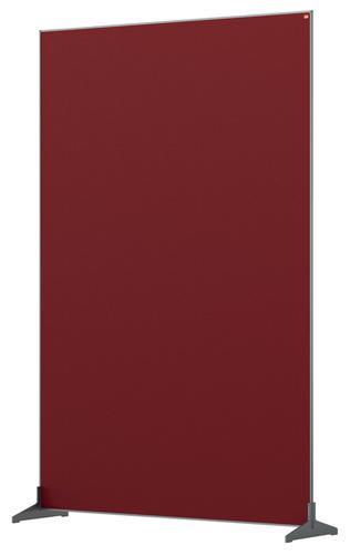 Nobo Floor Screen 1200x1800mm Red 1915527 | Create a versatile modular configuration | Felt pinnable surface | Fusion Office UK