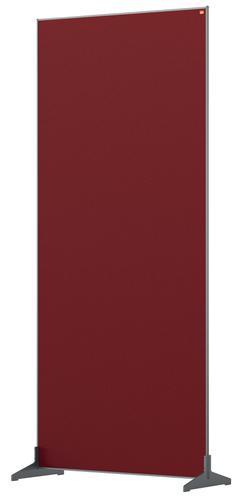 Nobo Floor Screen 800x1800mm Red 1915528   Create a versatile modular configuration   Felt pinnable surface   Fusion Office UK