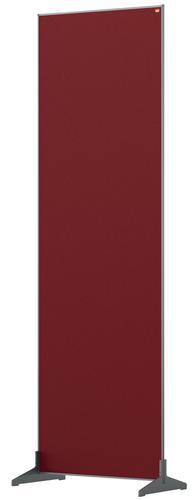 Nobo Floor Screen 600x1800mm Red 1915529 | Create a versatile modular configuration | Felt pinnable surface | Fusion Office UK