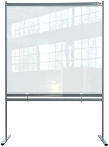 Nobo Floor Screen 1480x2060mm Clear PVC 1915551 | Heavy duty PVC screen with weather resistant powder coated frame | Fusion Office UK
