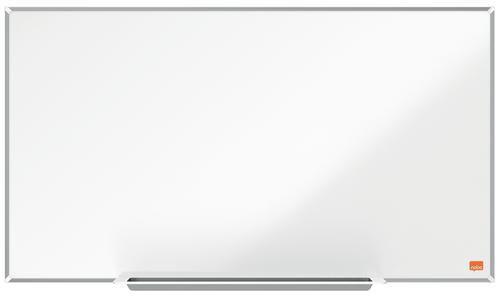 Nobo Steel Whiteboard 710x400mm Widescreen 1915253 | Steel magnetic surface for increased erasability | Moderate use | Fusion Office UK