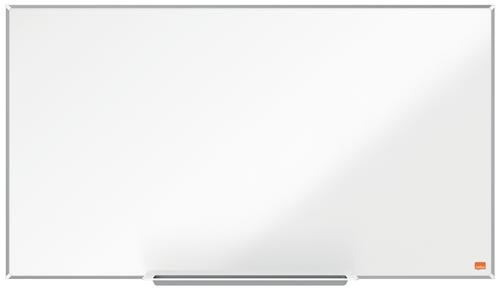 Nobo I-Pro Steel Whiteboard 890x500mm Magnetic 1915254 | Steel surface delivering increased erasability | For moderate use | Fusion Office UK