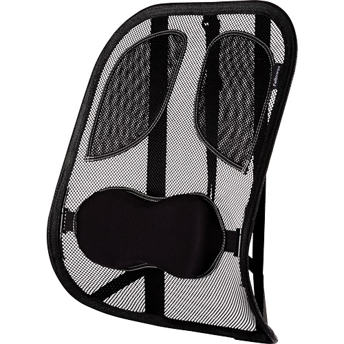 Fellowes Mesh Back Support Professional Series 8029901 | Gently moulds to your body's contours | Attaches to any chair | Fusion Office