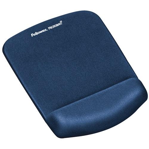 Fellowes PlushTouch Mousepad Wrist Support Blue 9287302   Innovative FoamFusion™ Technology   Fusion Office