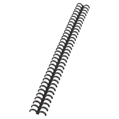 GBC ClickBind 8mm Black A4 388019E [Pack 50] | Editable and reusable: zip open the spine of bound documents | Fusion Office UK