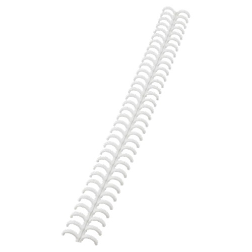 GBC ClickBind 8mm White A4 388002E [Pack 50] | Editable and reusable: zip open the spine of bound documents | Fusion Office UK