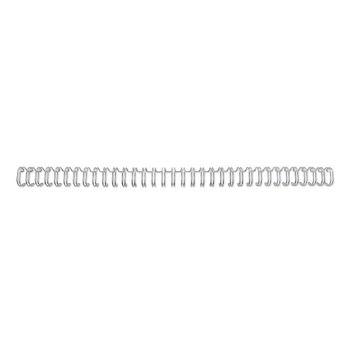 GBC WireBind Wires 5mm Silver No.3 34 Loop 2101007E [Pack 100]   WireBind is the premium choice for a professional finish   Fusion Office UK